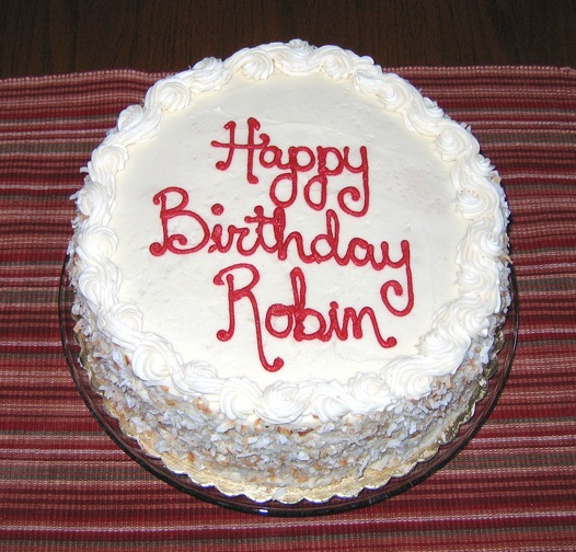 Happy Birthday Robin cake